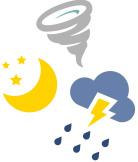 夜間や悪天候でも電気が使える!